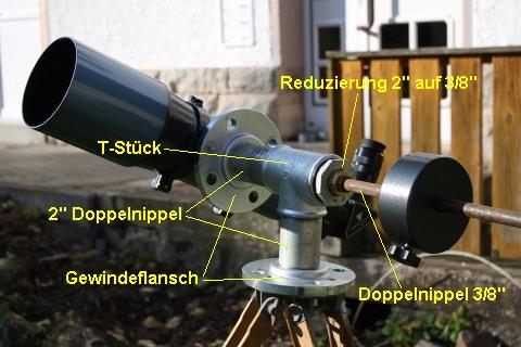 teleskop stativ selber bauen heiko schaut ins all pipemount azimuthale montierung f r einen. Black Bedroom Furniture Sets. Home Design Ideas